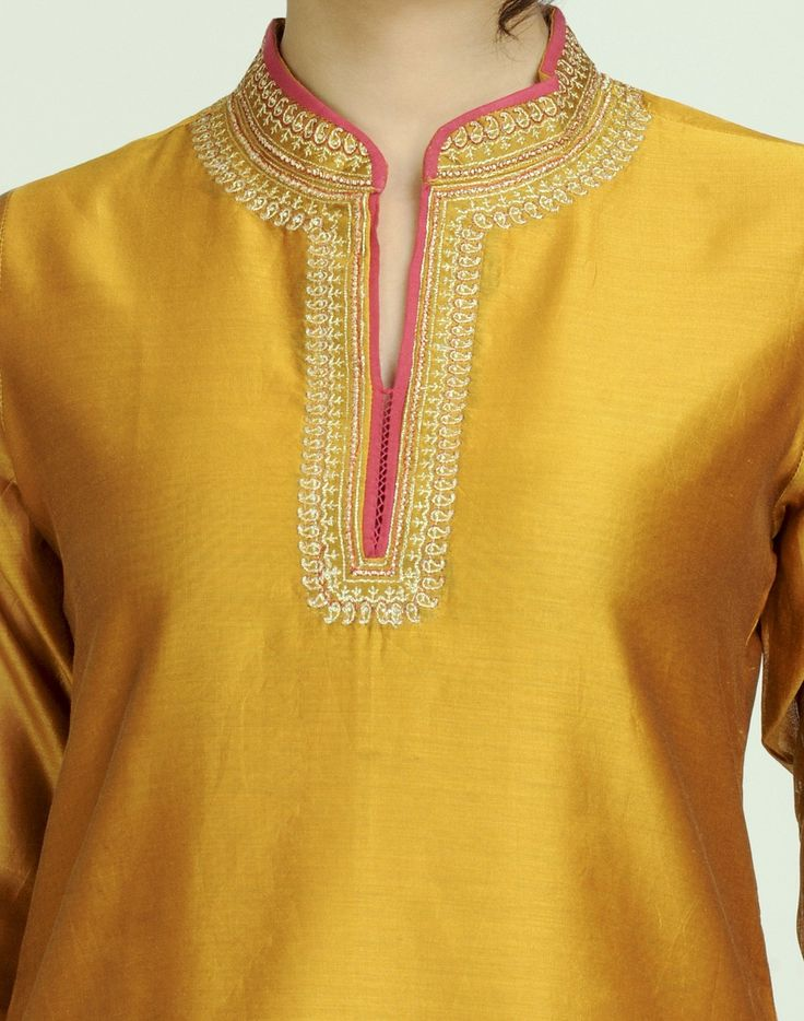 Fabindia.com | Silk Cotton Achkan Embroidery Mini Kurta