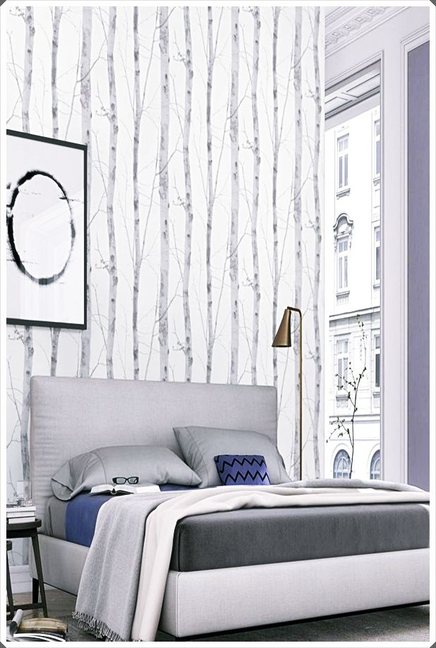 Very Small Bedroom Ideas Pinterest Trends 2020 Very Small Bedroom Birch Tree Wallpaper Feature Wallpaper Living Room