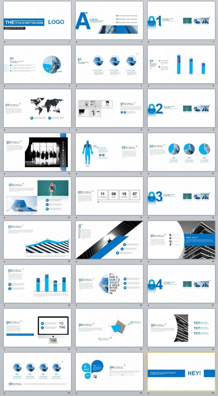 27 blue creative charts powerpoint template 0 pinterest