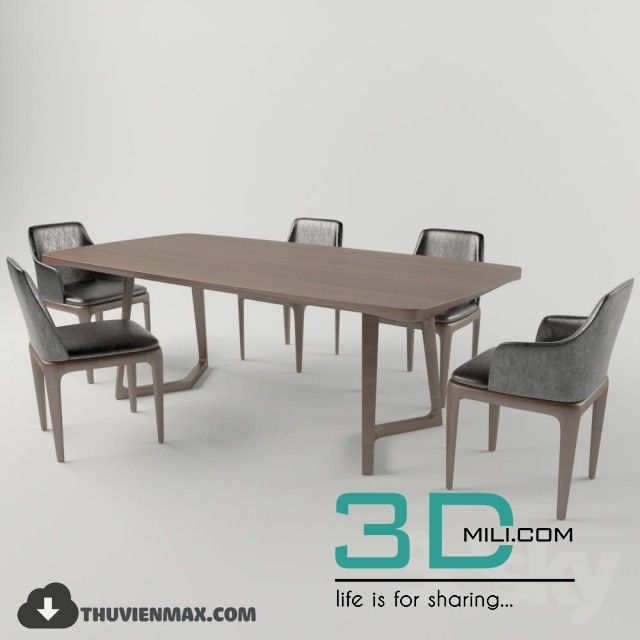 Awesome 210 Table Chair 3d Models Free Download Download Here