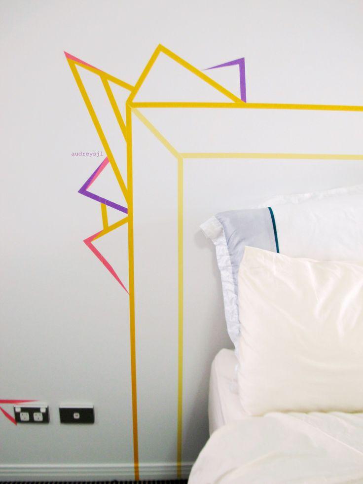 Washi Tape Headboard audreysjl DETAIL
