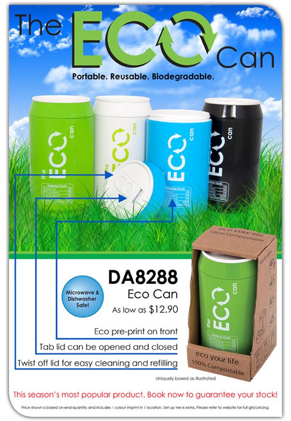 The Biodegradable & Recyclable Eco Can