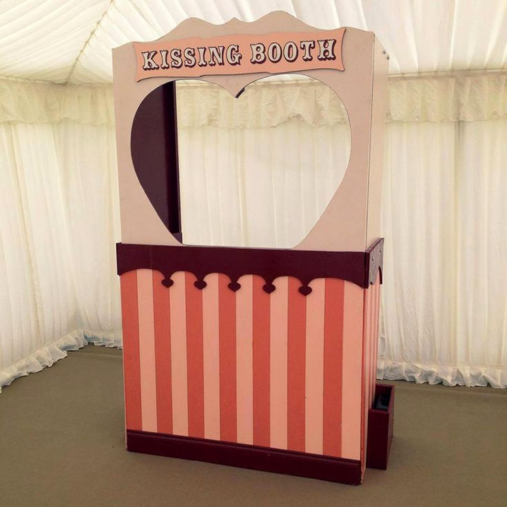 Edwardian styled Kissing Booth perfect for match making or fun at weddings or parties. Can be used as a Photo Booth also. #kissingbooth #wedding #vintagewedding