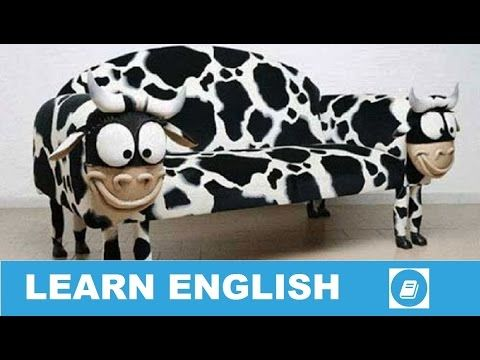 Learn English Vocabulary - Furniture 1 - Talking Flashcards - E ANGOL