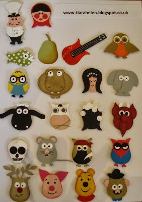 Owl Punch Stampin Up. Lots of characters made with stampin up's owl punch. See my blog for individual credits.