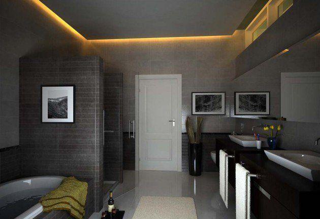 17 Extravagant Bathroom Ceiling Designs That You Ll Fall In Love With Them Badezimmergestaltung Deckenarchitektur Abgehangte Decke Design