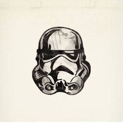 Storm Trooper Reusable Tote Bag by OrangePeelPaperie on Etsy