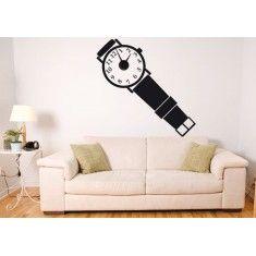 Divertidos vinilos decorativos que hacen su función como relojes de pared. Puedes colocarlo en la pared que más te guste y verás que bonito queda.