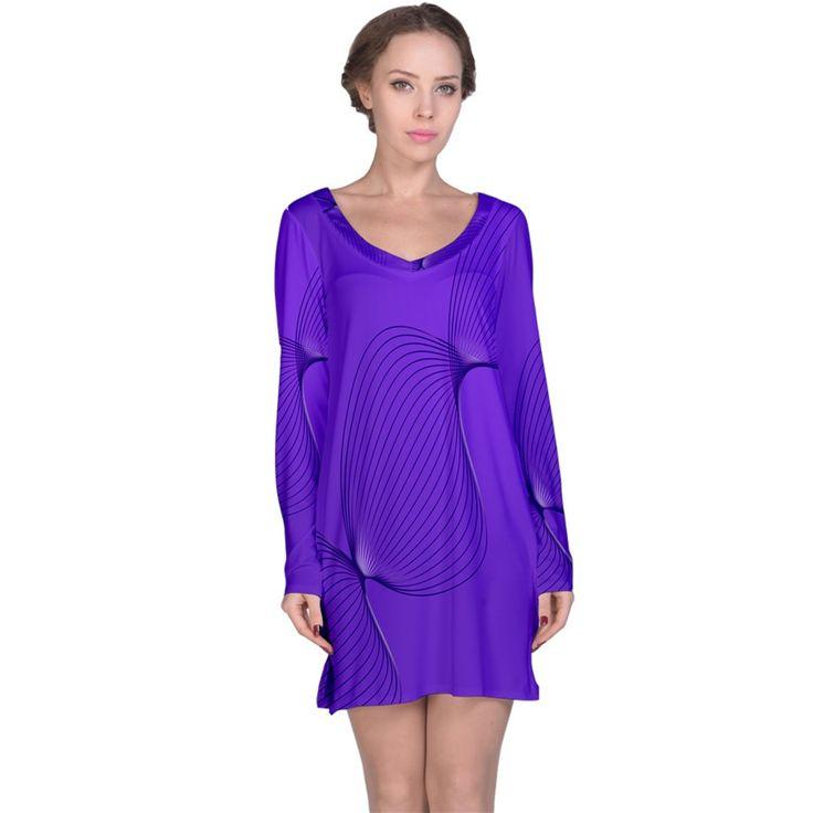 Twisted Purple Pain Signals Long Sleeve Nightdress