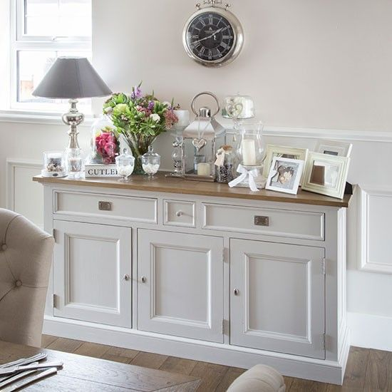Cream dining room sideboard | Dining room decorating | Ideal Home | Housetohome.co.uk