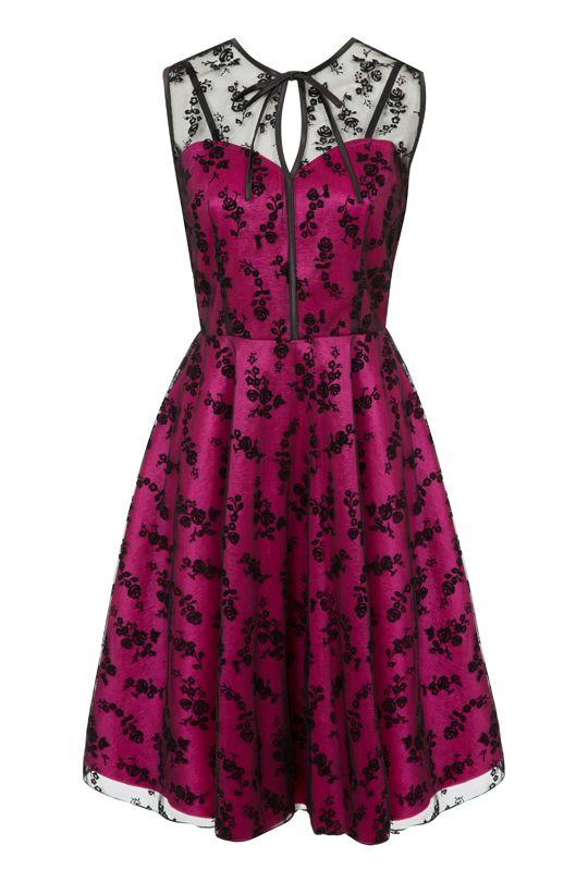 Antique Ruby Pink Tafeta Party Dress | Elsie's Attic