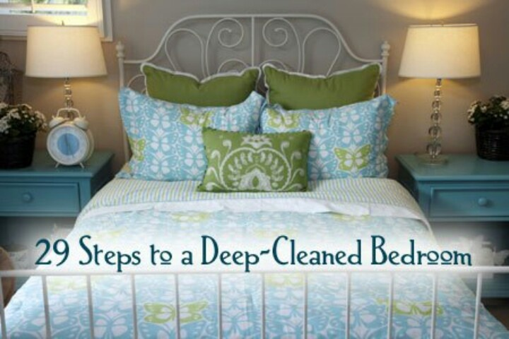 Deep Clean Bedroom Cleaning Disinfecting Pinterest