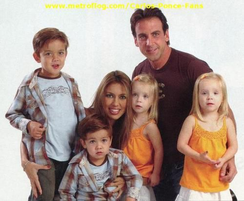 Carlos Ponce with former wife Veronica Rubio and kids