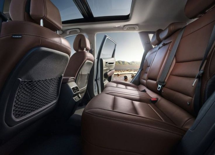 2017 Renault Koleos rear seats: New quality materials are shared with Megane and Talisman.