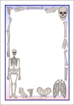 Skeletons A4 page borders (SB7853) - SparkleBox