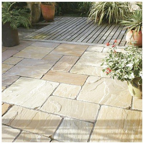 Engineered Stone Paving Tile For Outdoor Floors Antique Natural Sandstone Bradstone Ceramicfloordesign Ceramicf Garden Slabs Sandstone Paving Limestone Patio