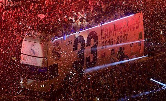 El Madrid se consagra a la diosa Cibeles para celebrar La Liga