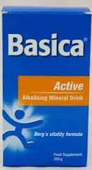 Basica Active Alkalising Mineral Drink Berg's Vitality Formula Food Supplement 300g. Sold at New Farm Physiotherapy. Ph : 3358 5481. 1/78 Merthyr Road New Farm 4005. admin@newfarmphysiotherapy.com.au www.newfarmphysiotherapy.com.au