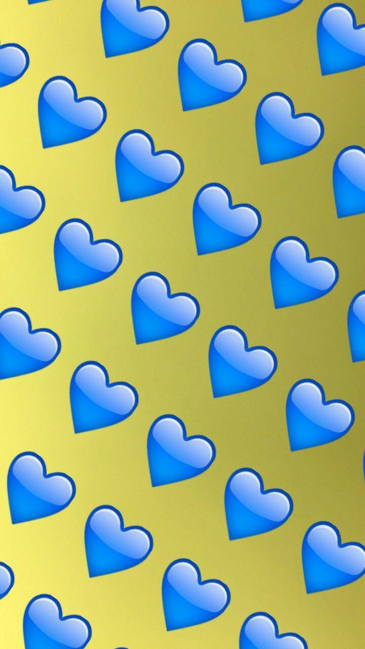 Wallpaper emoji corazón azul