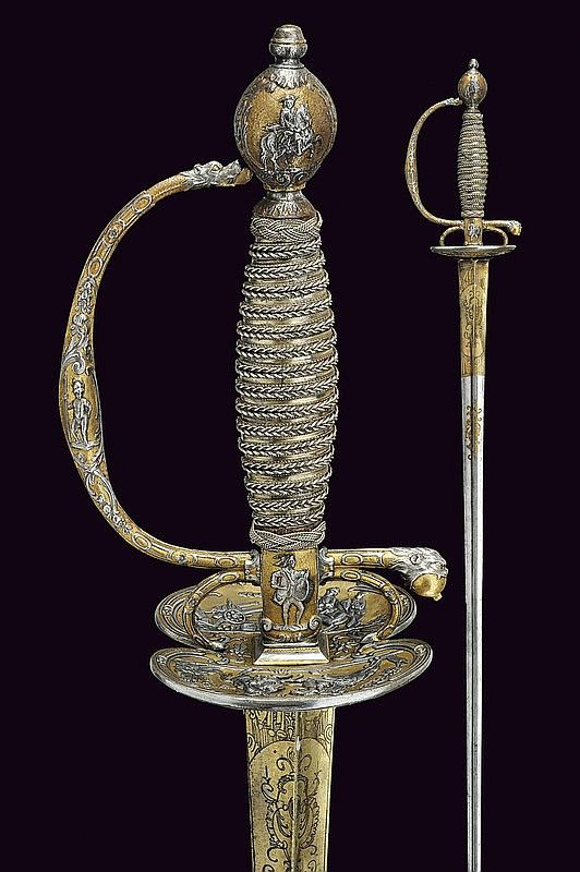 A luxury small-sword, dating: circa 1700  provenance: France