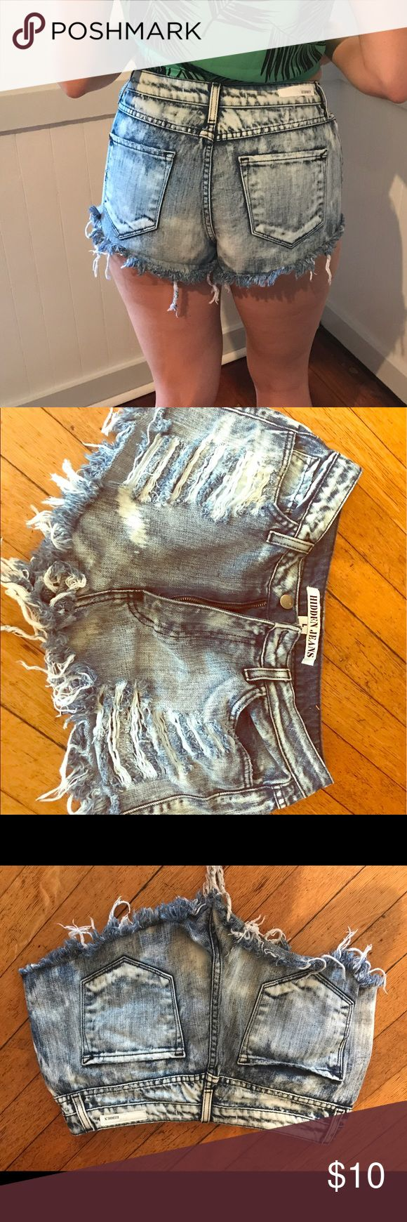 Hidden Jeans  daisy duke shorts Just a cute pair of shorts , no issues they're just too short for me. I'm usually an 8 or 10 hidden jeans Shorts Jean Shorts
