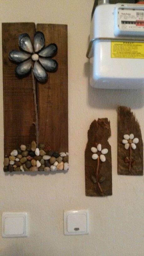 Kapı önü..çakil taşları...midye kabukları...tasarım...