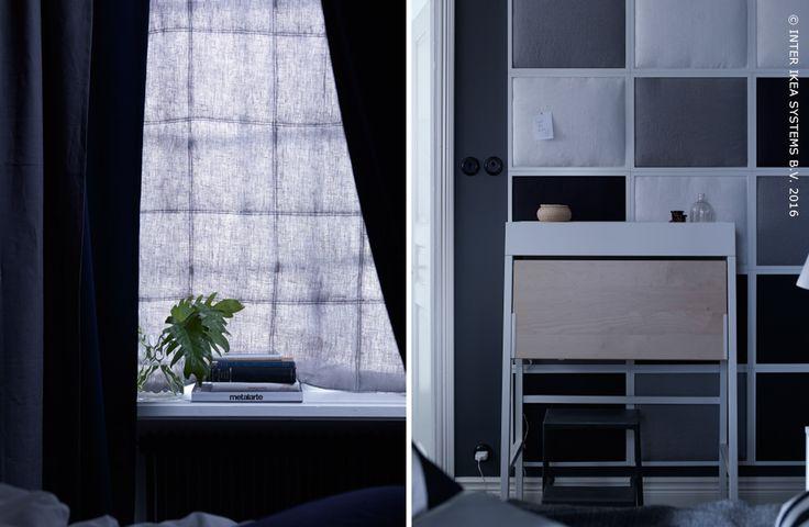 Les textiles peuvent ajouter de la personnalité à vos murs. Découvrez nos idées pour habiller votre intérieur. #IKEABE