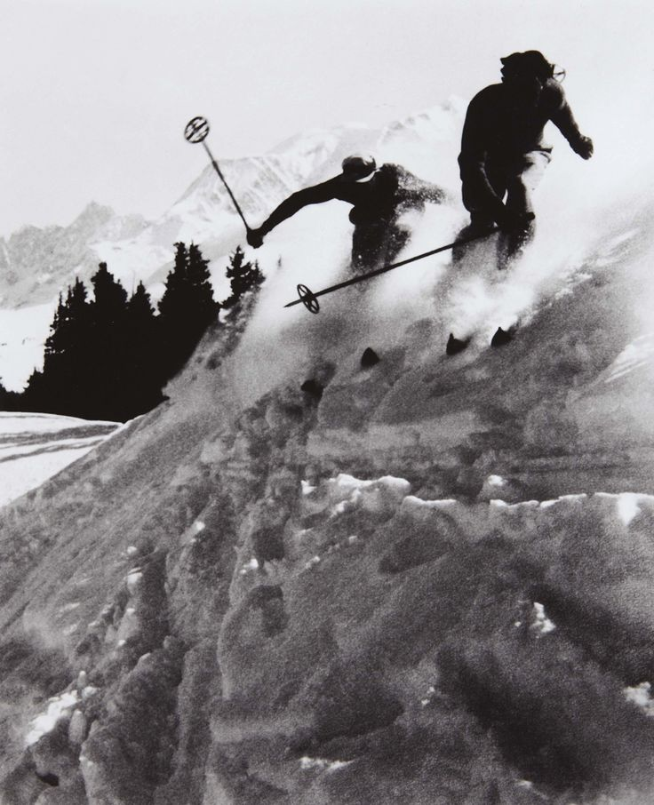 Skieurs à Megève    photo by Willy Ronis, 1938