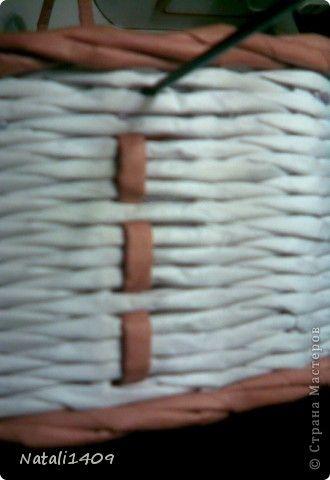 Декор предметов Мастер-класс Поделка изделие Бумагопластика Декупаж Моделирование Плетение Новый узор + МК Бумага газетная Салфетки фото 8