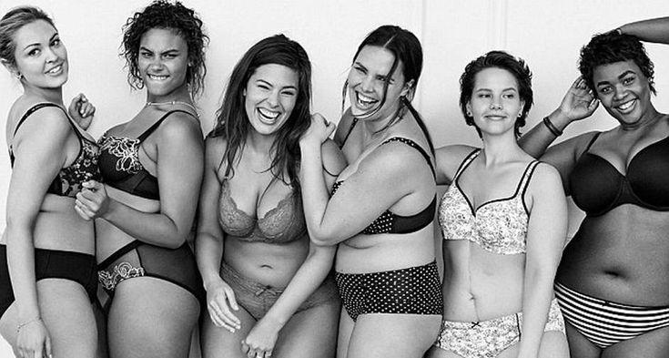 Elas não têm a barriga negativa de Candice Swanepoel, mas, mesmo assim, batem um bolão de lingerie. É isso que a marca Lane Bryant, especializada em calcinhas e sutiãs plus size, quer provar com a nova campanha #NãoSouAngel (#ImNoAngel), numa clara provocação à marca Victoria´s Secret, que não poupa esforços em colocar modelos magras em suas campanhas Foto: Tumblr/lanebryant