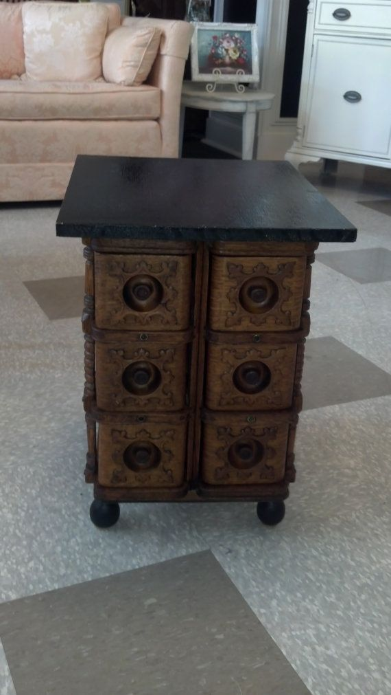 Awesome use of the drawers from a treadle machine since the veneer tips are usually in pretty bad shape.