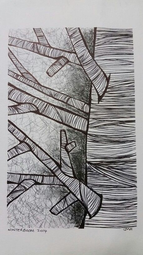 Zentangle winter tree