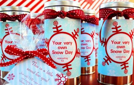 Winter Birthday Party Ideas: personal snow making kits