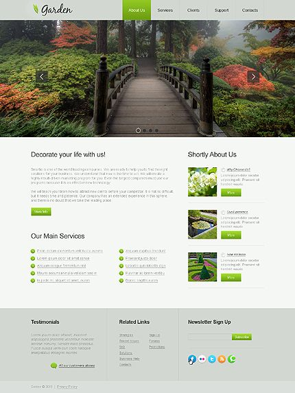Garden Web Design Design 120 Best Web Design Images On Pinterest  Mockup Website Designs .
