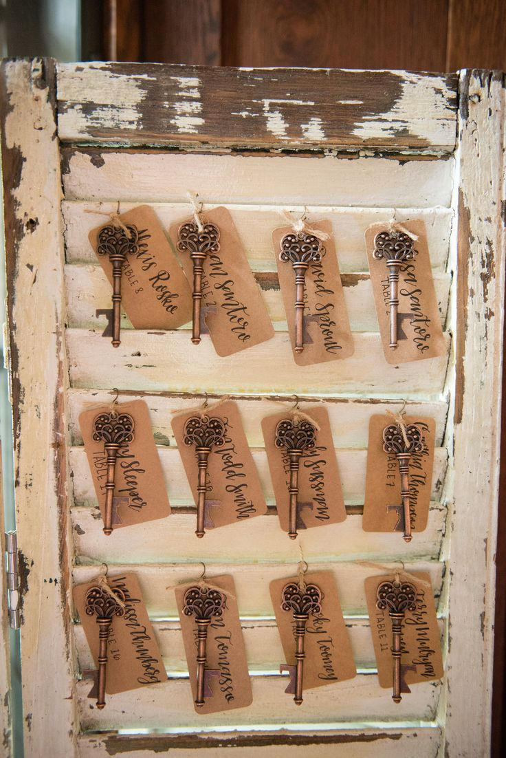 Secret garden themed event with vintage keys that are also bottle openers! We love a wedding favor that ties into a theme! From a party at Willowdale Estate in Topsfield Massachusetts - just north of Boston. WillowdaleEstate.com