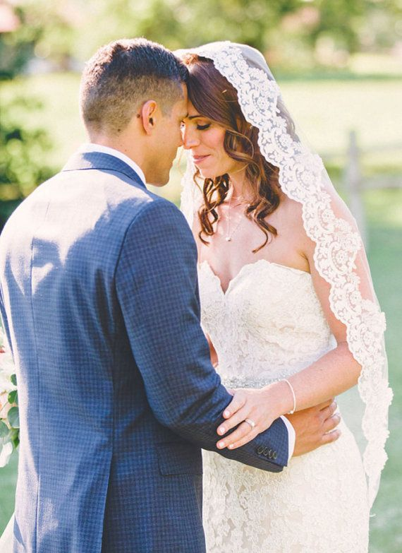 Love this Mantilla Lace Veil! So affordable here too:)  | wedding veils, lace wedding veils, veils with lace, mantilla wedding veils, mantilla lace wedding veils,