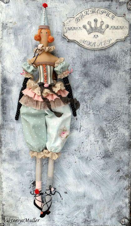 Купить или заказать кукла тильда ручной работы РЫЖИЙ))) в интернет-магазине на Ярмарке Мастеров. Девочка-клоун с рыжими волосами) Очаровательный подарок по любому поводу.