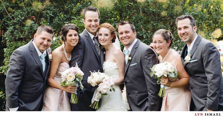 Nithridge Estate Wedding | Abbey and Matt | pink bridesmaid dresses | pink white cream bouquet