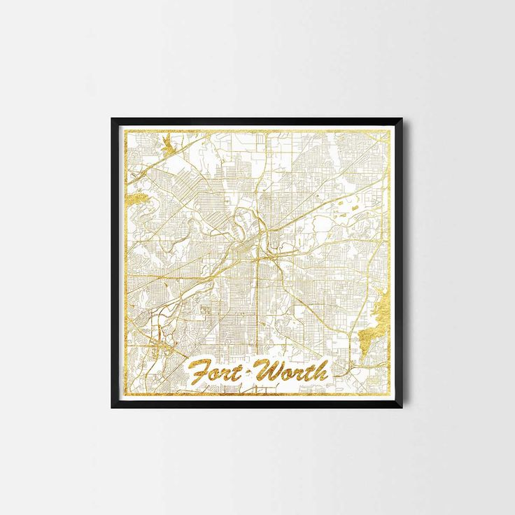 Fort Worth map posters are high quality map art prints of a great city. Perfect for the house and office or as a gift for a friend. Interior gift travel