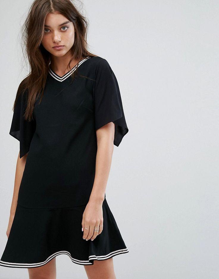 ALLSAINTS ALICE DROP WAIST DRESS - BLACK. #allsaints #cloth #