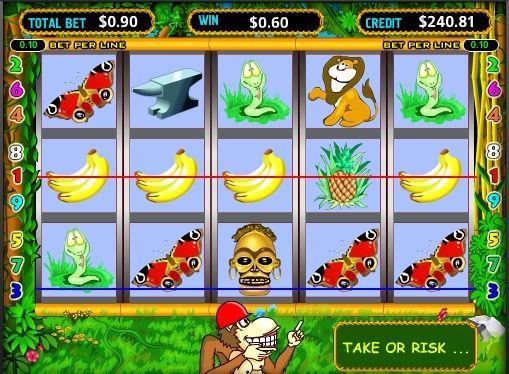 Beschreibung von Online-Spielautomaten Crazy Monkey (Affe). Crazy Monkey ist seit langem eine legendäre Maschine, die eine Menge Geld, eine Menge Spieler gebracht hat. Es ermöglicht Ihnen, Verbindung zu beiden Seiten des Schlitzes zu sammeln, so dass es doppelt so häufig gewinnen kann, und berühmt Bonus-Spiele ermöglichen reicher durch einen Auftrag in nur