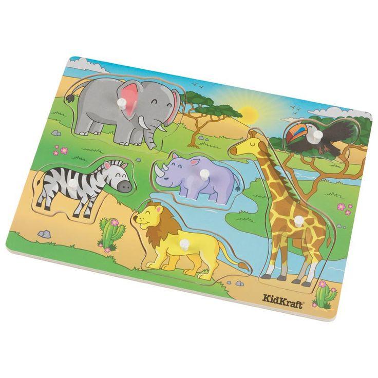 Voyagez au coeur de la savane grâce à ce puzzle à thème safari ! Avec sa girafe paisible, son lion inoffensif et son éléphant rigolo, les animaux de la savane n'auront plus de secrets pour vos enfants. Grâce à ses pièces épaisses avec contours arrondis faciles à prendre en main, vos enfants pourront jouer des heures sans se blesser.  Dimensions : 29x 20 x 1,85 cm