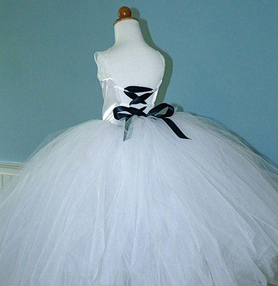 Bustled Full Length Sewn Tutu and Satin with Lace by PoshPinksTutu, $99.00