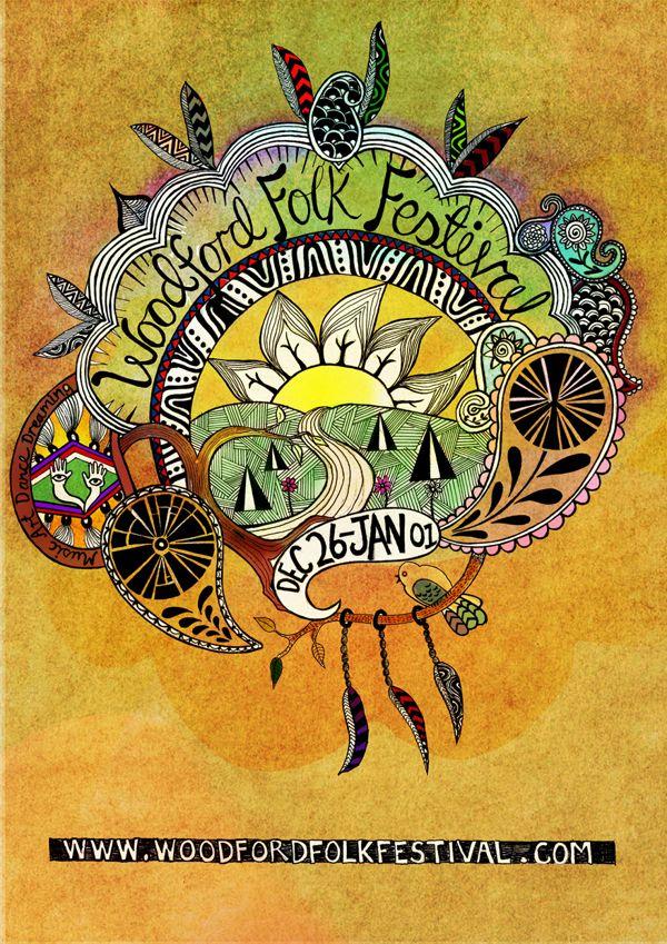 Woodford Folk Festival Poster by Rachael Meader, via Behance