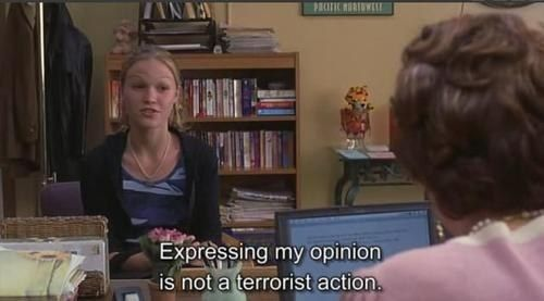 """You can and should express your opinion when you feel the urge. 