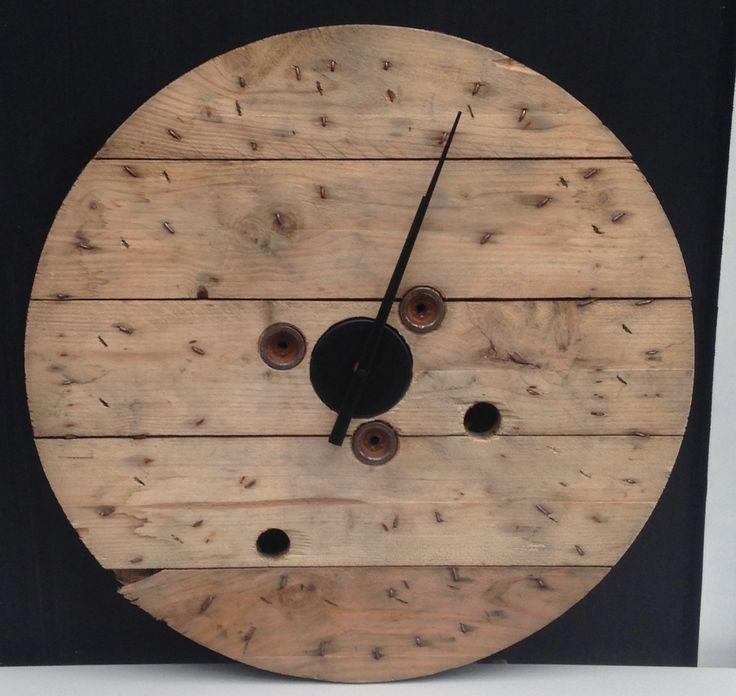 Haspel haspelklok klok zwarte wijzers