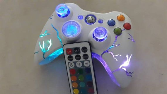 Xbox360 Arcade Fire Xbox Wireless Techfire Smart Led Controller Remote Gaming Controller Light Up Xbox Arcade Fire Control