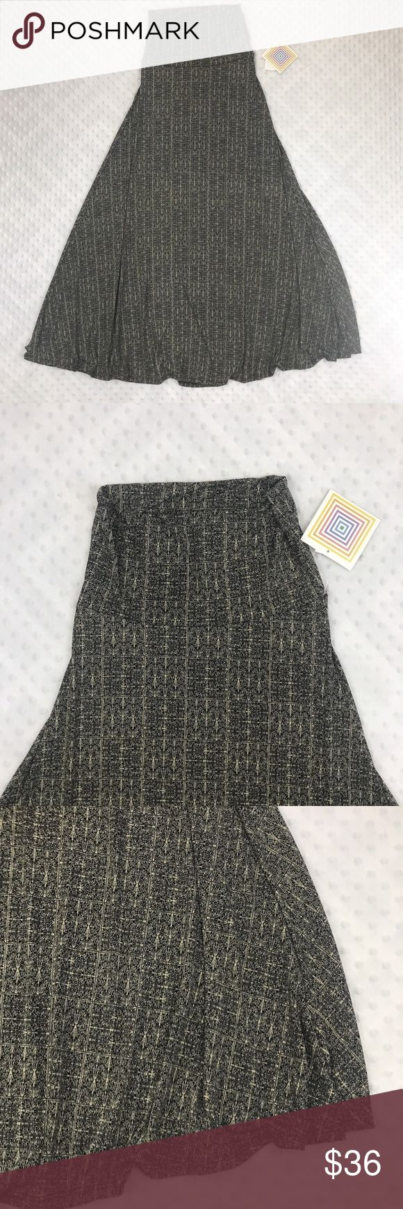 LulaRoe NWT MAXI Skirt Item: Brand New With Tags XXS MAXI Skirt  Size: XXS  Refer to measurements below for accurate fit!  Measured flat:          13-15 inches waist         42 inches length         Base Color:  Blue   Please look at photos for better description LuLaRoe Skirts Maxi