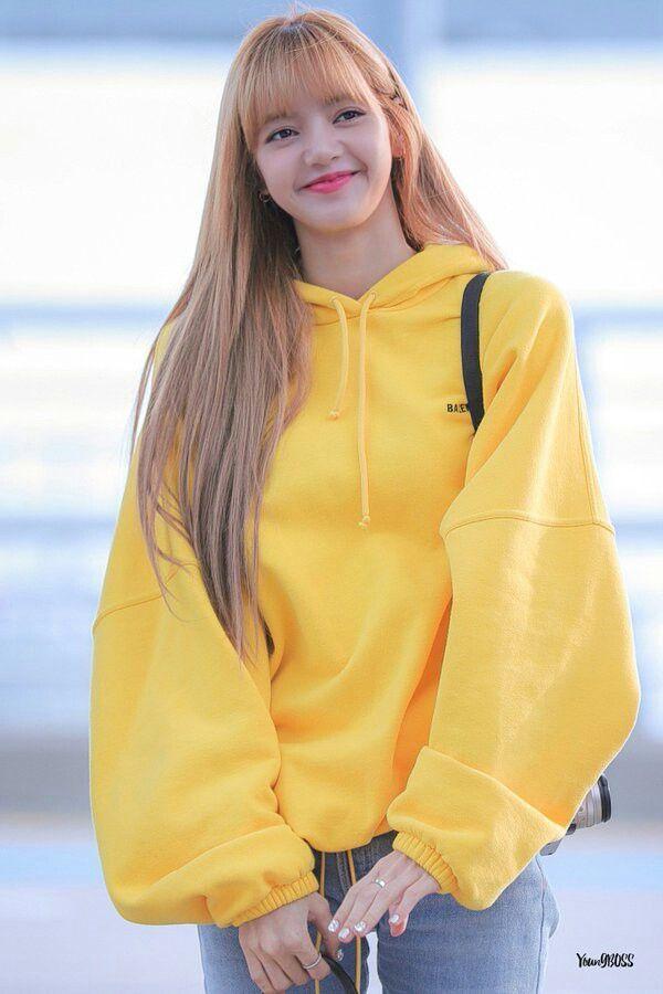 Yellow Sweater Lisa Blackpink K Fashion At Fashionchingu