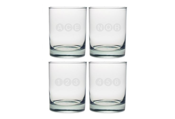 One Kings Lane - Picks Under $50 - S/4 Assorted NYC Subway Tumblers